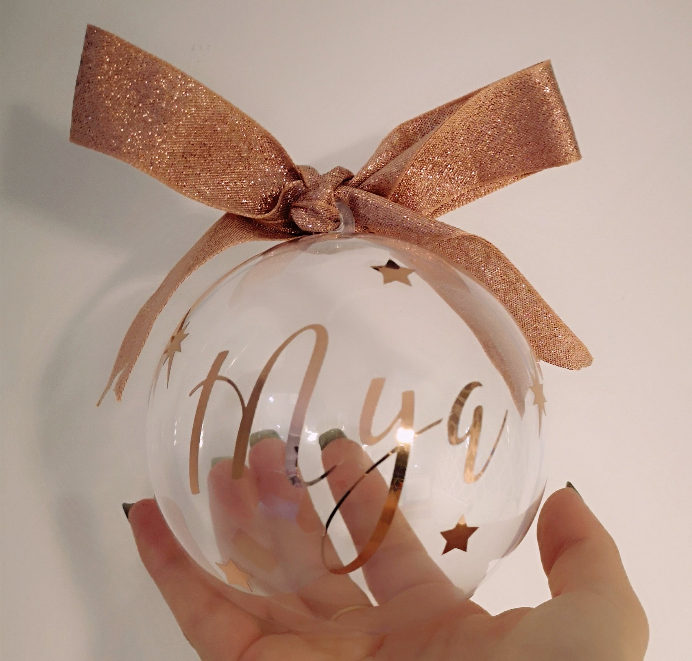 Christmas Fillable Personalised Bauble