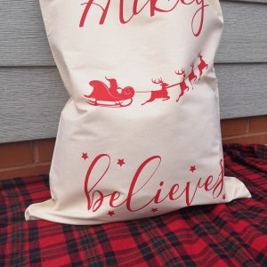 Christmas personalised present sack