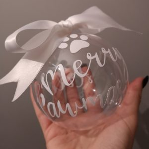 Christmas Dog Bauble - personalised