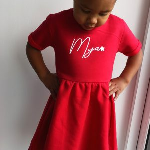 Star script dress - Personalised