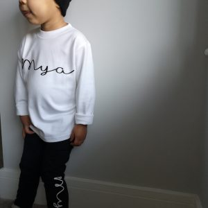 Script leggings & long sleeve t-shirt set - personalised