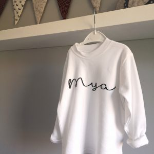 Script Long Sleeve T-shirt - personalised
