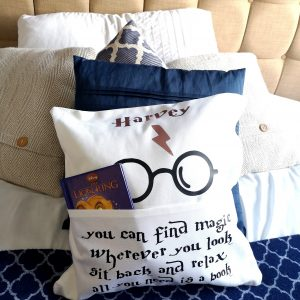 Wizard Book Cushion - Personalised