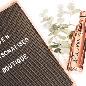 personalised bottle - rose gold