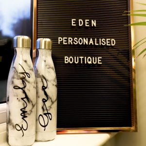 personalised stainless steel bottle - marble