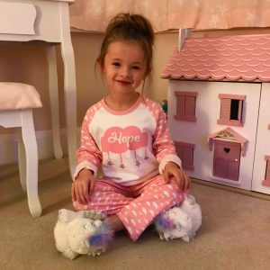 personalised pyjamas - pink