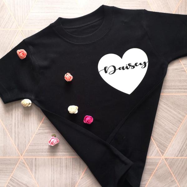 personalised valentines t-shirt