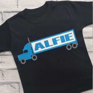 Personalised lorry t-shirt