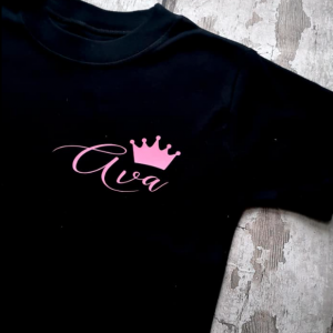 personalised royal crown t-shirt