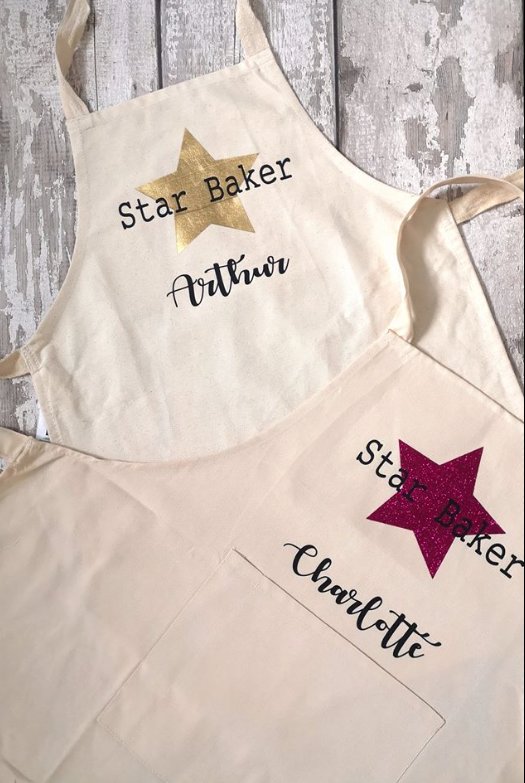 personalised apron - star baker