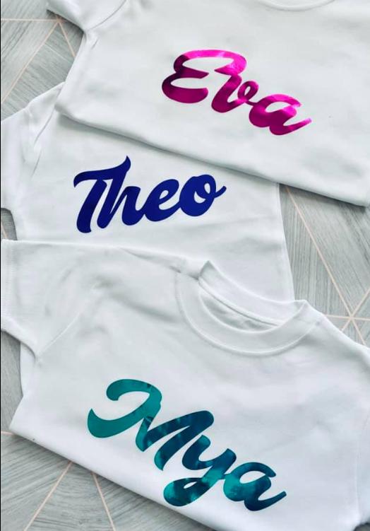 retro personalised t-shirt