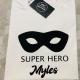 personalised superhero mask t-shirt