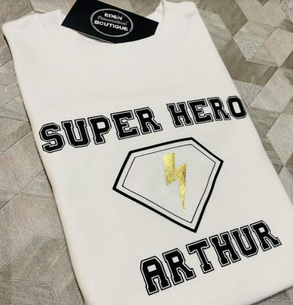 personalised superhero t-shirt