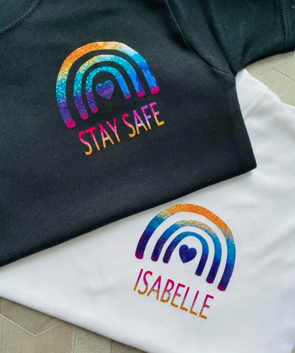 Personalised Rainbow t-shirt