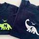 personalised initial dinosaur