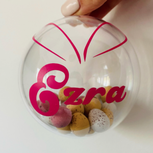 personalised Easter bauble