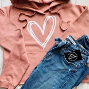 scribble heart sweater